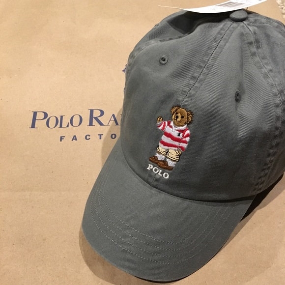8ca551478b3 Ralph Lauren Polo Bear Adjustable Hat NWT